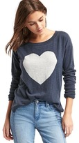 Gap Heart intarsia drop shoulder sweater