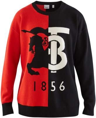 Burberry Logo Graphic Intarsia Cashmere Sweater
