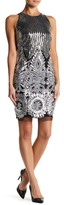 Alexia Admor Sleeveless Sequin Embroidered Dress