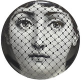 """Fornasetti Woman's Face Behind Veil"""" Plate"""