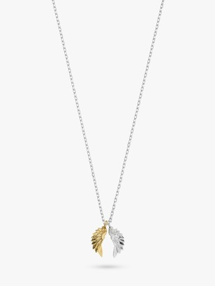 Estella Bartlett Silver and Gold Plated Wings Pendant, Silver/Gold