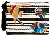 Sam Edelman Synthia Straw Fish Wristlet Clutch