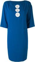 Moschino logo button shift dress