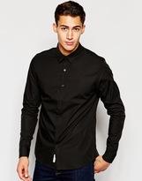 Calvin Klein Jeans Shirt In Poplin Slim Fit - Black