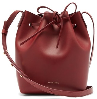 Mansur Gavriel Mini Leather Bucket Bag - Womens - Burgundy