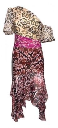 AMUR Multicolour Silk Dress for Women