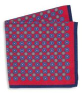 Ike Behar Printed Silk Pocket Square