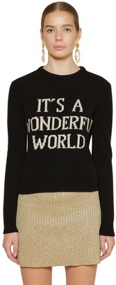 Alberta Ferretti Slim Cashmere Blend Knit Sweater