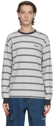 This Is Never That thisisneverthat Grey Striped Long Sleeve T-Shirt