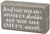 """""""Over My Mouth"""" Wooden Box Sign Art"""