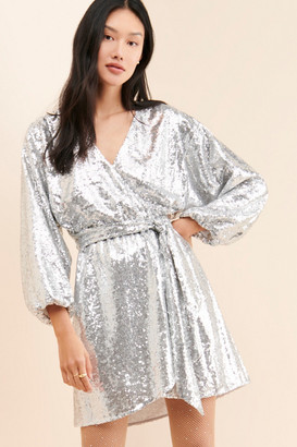 Anthropologie Lisabette Sequined Mini Dress