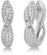 Ice 0.02 CT TDW Diamond Accent Earring With 18K Rose Gold Plated Over Brass