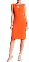 Kasper Cutout Detail Sheath Dress