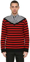 Givenchy Deep V Striped Merino Wool Sweater