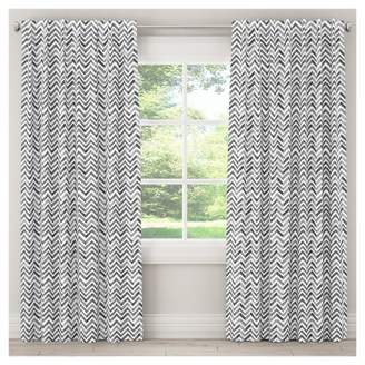 "Skyline Furniture Watercolor Chevron Blackout Curtain Panel (63""x50"") Gray"