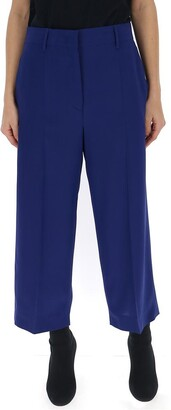 Prada High Waist Cropped Trousers