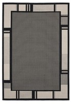 "Purkey Black Indoor/Outdoor Area Rug Canora Grey Rug Size: Rectangle 7'10"" x 10'6"""