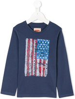 Levi's Kids - flag print T-shirt - kids - Cotton - 4 yrs