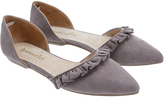 Accessorize Rosie Frill Two Part Pointed Flat Shoes