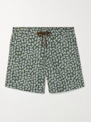 Thorsun + Charvet Mid-Length Paisley-Print Swim Shorts