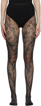 Saks Potts Black Lace Lucy Tights