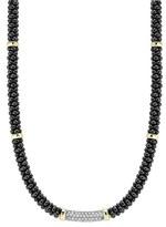 Lagos Women's 'Black Caviar' 5Mm Beaded Diamond Bar Necklace