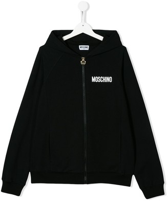 MOSCHINO BAMBINO TEEN teddy embroidered hoodie