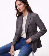LOFT Tall Plaid Double Breasted Blazer