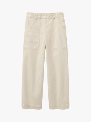Toast Annie Side Button Trousers, Ecru