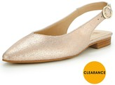Very Leather Slingback Point Flat