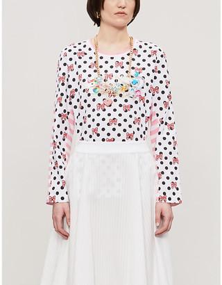 Comme des Garcons Spot-print cotton-jersey T-shirt