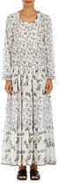 Warm Women's Holiday Swiss Dot Chiffon Dress-WHITE