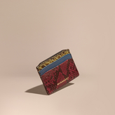 Burberry Colour Block Snakeskin and Leather Card Case