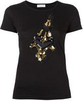Sonia Rykiel Eiffel Tower patch T-shirt - women - Cotton - M