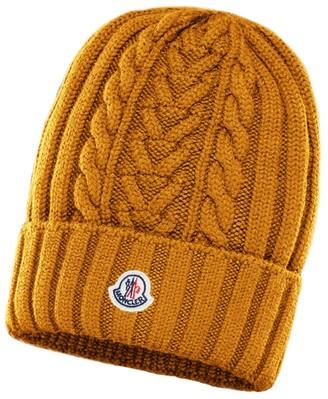 Moncler Wool Logo Beanie Hat