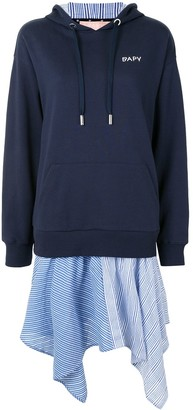 Bapy By *A Bathing Ape® Layered Hooded Sweatshirt Dress