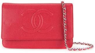 Chanel Pre-Owned 2013-2014 CC logo chain wallet shoulder bag