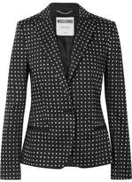 Moschino Embellished Cotton-blend Blazer - Black