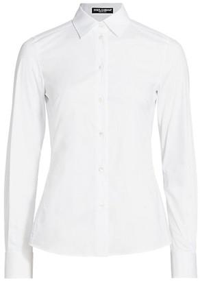 Dolce & Gabbana Point Collar Poplin Shirt