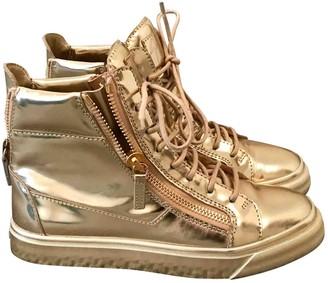Giuseppe Zanotti Nicki Gold Leather Trainers