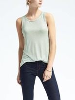 Banana Republic Metallic Modal Crew Tank