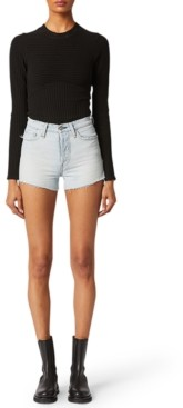 Hudson Cotton Cutoff Denim Shorts