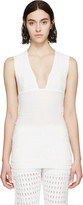Isabel Marant White Cotton Gauze Garron Top