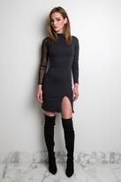 Donna Mizani Long Sleeve Slit Dress