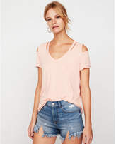 Express one eleven slash neck cold shoulder tee