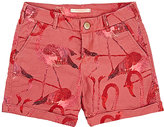 Scotch R'Belle FLAMINGO-PRINT DENIM SHORTS