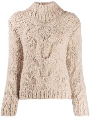 Snobby Sheep cashmere cable knit jumper