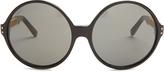 Linda Farrow Oversized round caged sunglasses