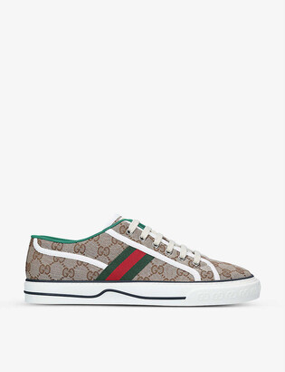 Gucci Tennis 1977 canvas low-top trainers
