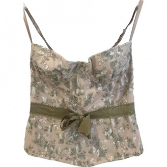 P.A.R.O.S.H. Beige Top for Women